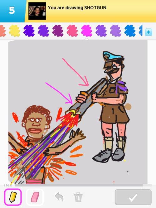 how to draw a shotgun