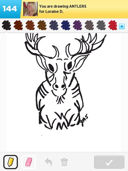 Antlers Drawing   New Calendar Template Site