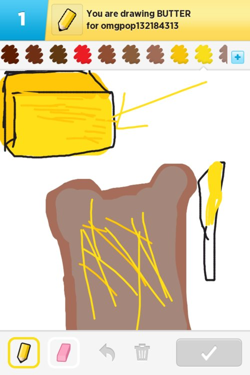 Butter Drawings - How to Draw Butter in Draw Something ...