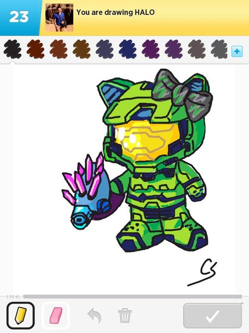 how to draw halo magnum