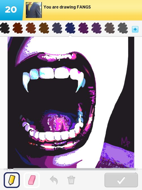 fangs drawings - how to draw fangs in draw something