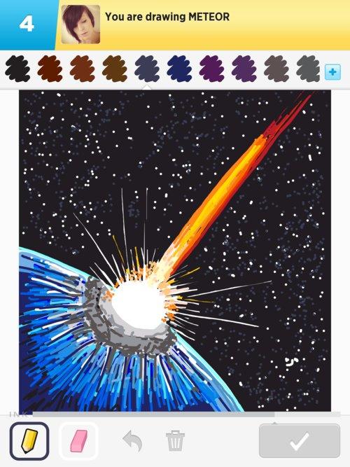meteor drawings