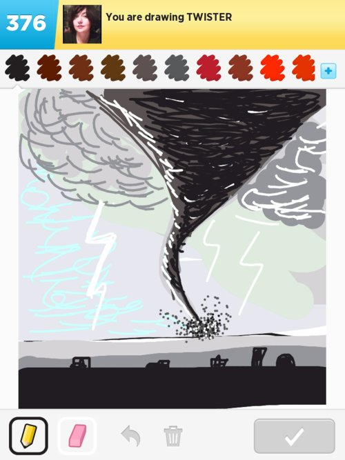 how to draw a twister