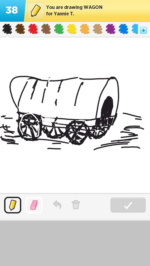 how to draw a conestoga wagon