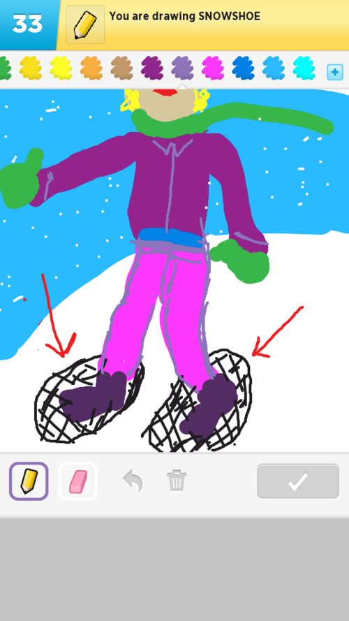 Snowshoe Drawings - How to Draw Snowshoe in Draw Something ...