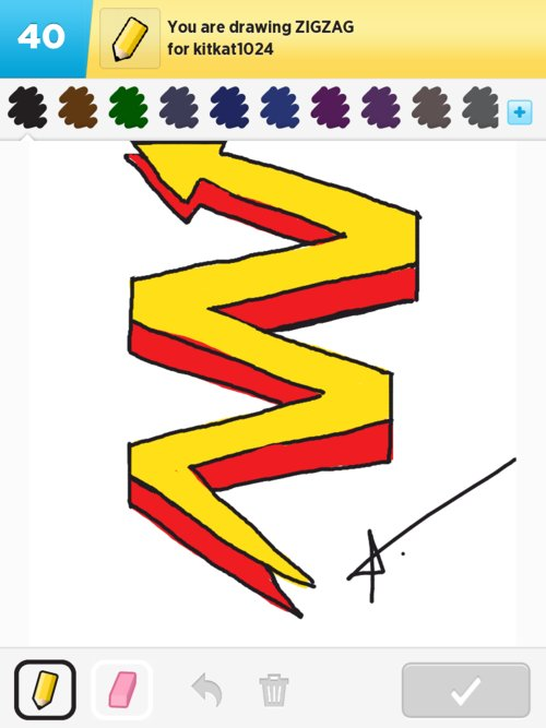 Line Drawing Of Zig Zag : Zigzag drawings how to draw in something