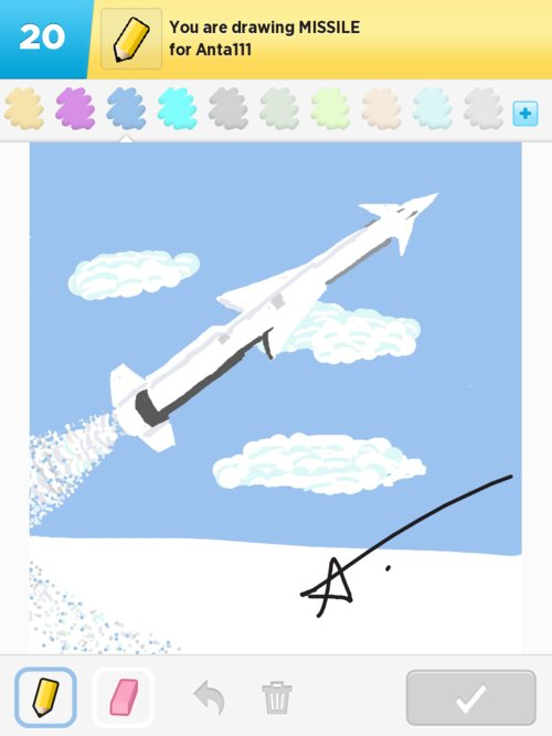 how to draw a missile