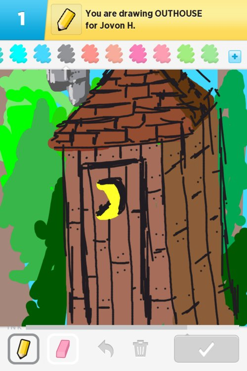 how to draw an outhouse