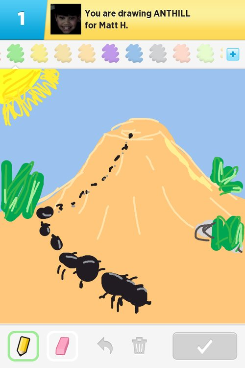 Anthill drawing - photo#11