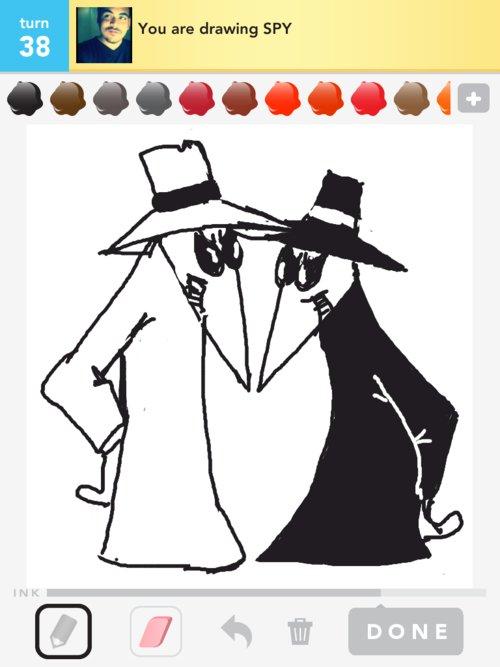 how to draw a spy