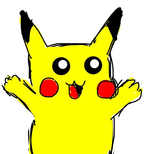 pictures how to draw pikachu