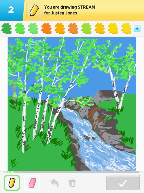 River Stream Drawing by Hailey E Herrera