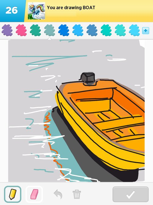 how to draw a boat from the front