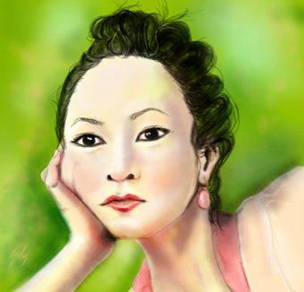 Women_aisan_drawing