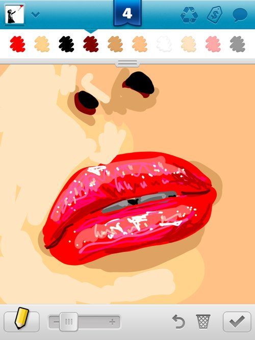 how to draw lip gloss