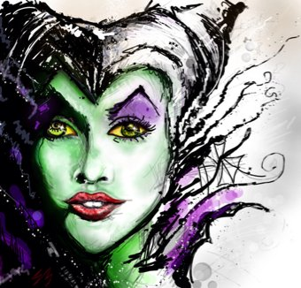 Maleficent_drawing_