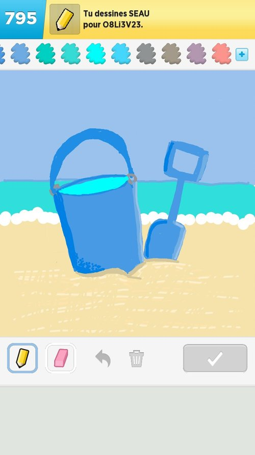 how to draw a bucket spilling