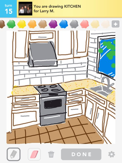 Kitchen Drawings - How to Draw Kitchen in Draw Something ... on draw floor plan kitchen, cartoon kitchen, easy simple drawings kitchen, draw your kitchen, draw my own kitchen, drawing black and white kitchen,