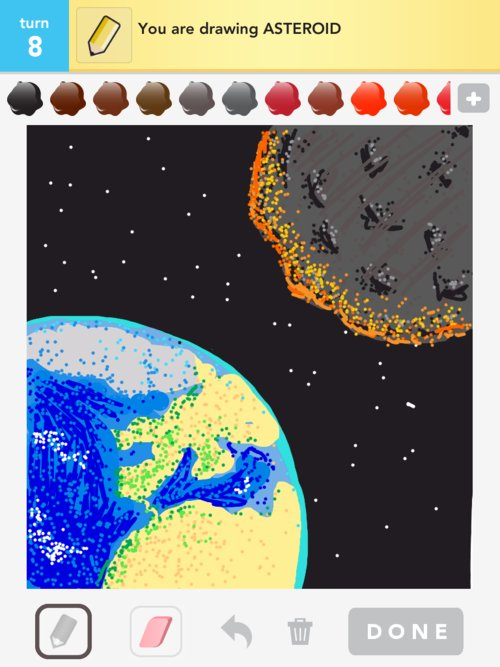 drawn picture of an asteroid - photo #8