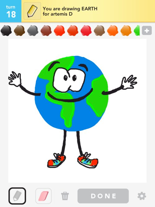 Earth Drawings - How to Draw Earth in Draw Something - The