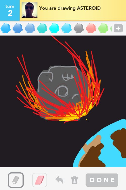 drawn picture of an asteroid - photo #39