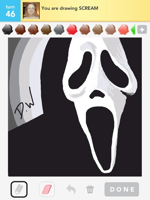 Scream Drawings - The Best Draw Something Drawings and Draw