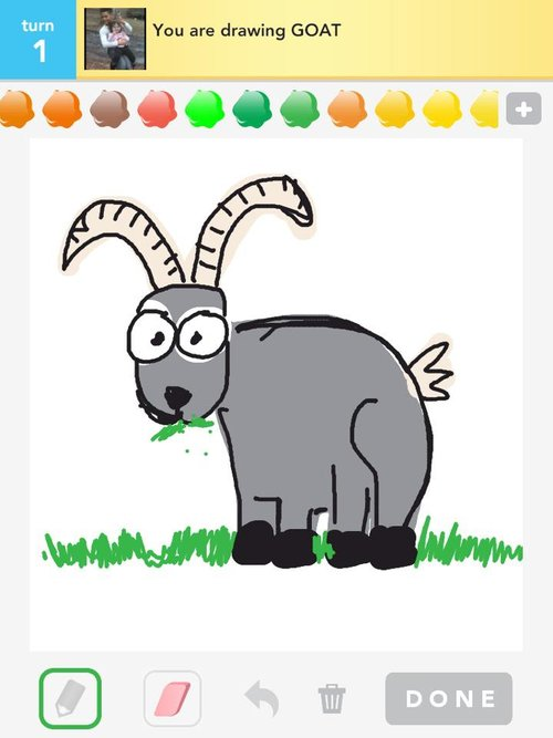 Goat Drawings - How to Draw Goat in Draw Something - The