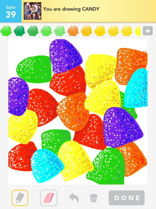 How To Draw Candy In Draw Something