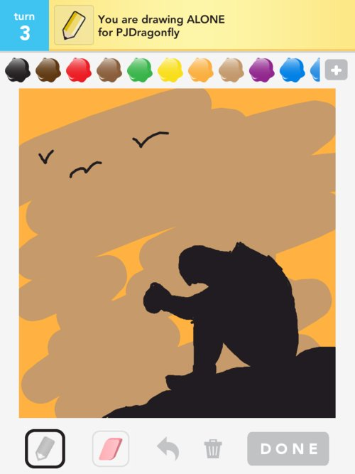 Something To Celebrate: How To Draw Alone In Draw Something