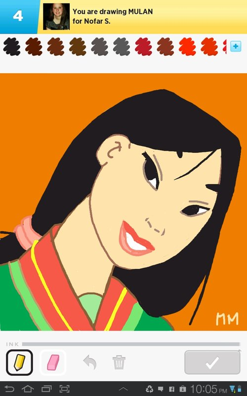 Mulan Drawings How To Draw Mulan In Draw Something The Best Draw Something Drawings And Draw Something 2 Drawings From Iphone Ipad Ipod And Android