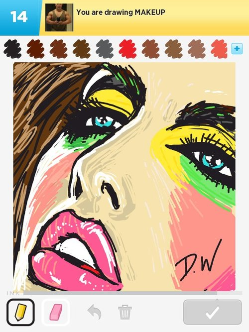 Makeup Drawing: How To Draw Makeup In Draw Something