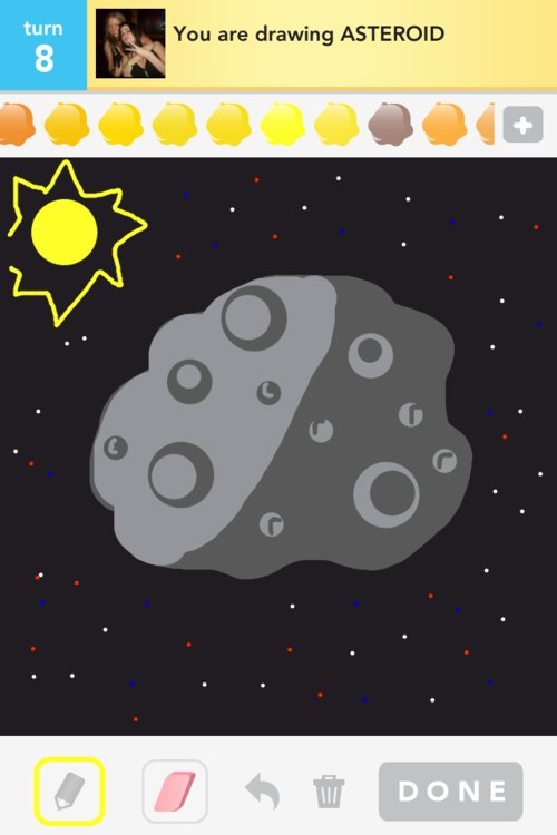drawn picture of an asteroid - photo #11