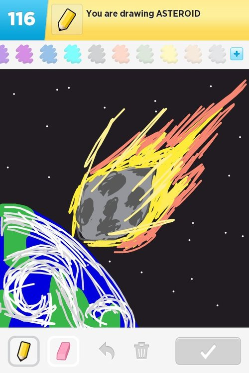 drawn picture of an asteroid - photo #9