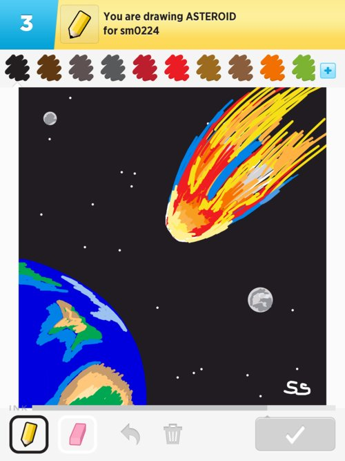 drawn picture of an asteroid - photo #14