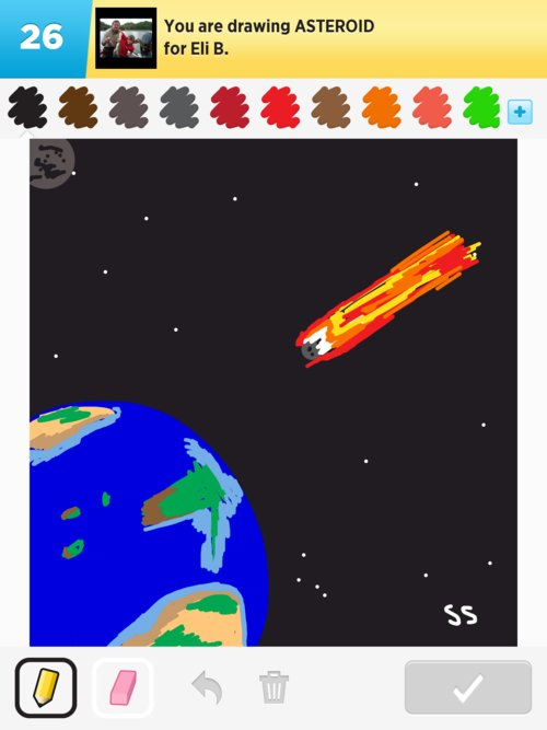 drawn picture of an asteroid - photo #20