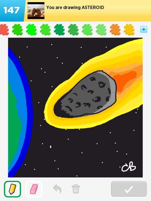 drawn picture of an asteroid - photo #22