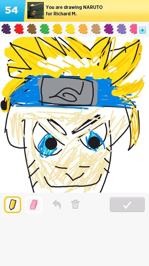 Naruto Drawings How To Draw Naruto In Draw Something The