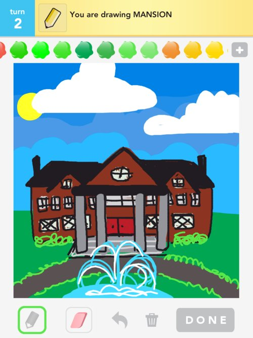 Mansion Drawing: How To Draw Mansion In Draw Something