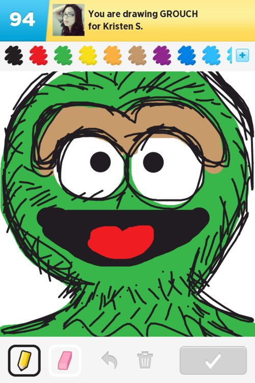 Grouch Drawings How To Draw Grouch In Draw Something The