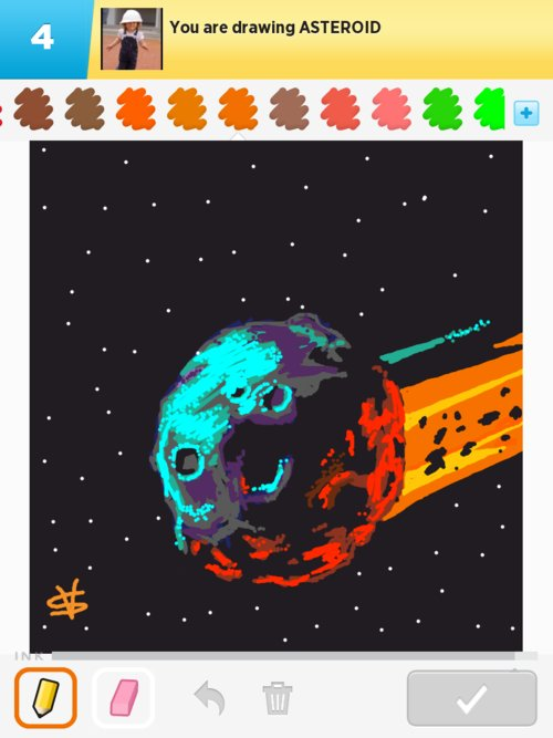drawn picture of an asteroid - photo #4