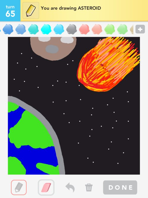 drawn picture of an asteroid - photo #10