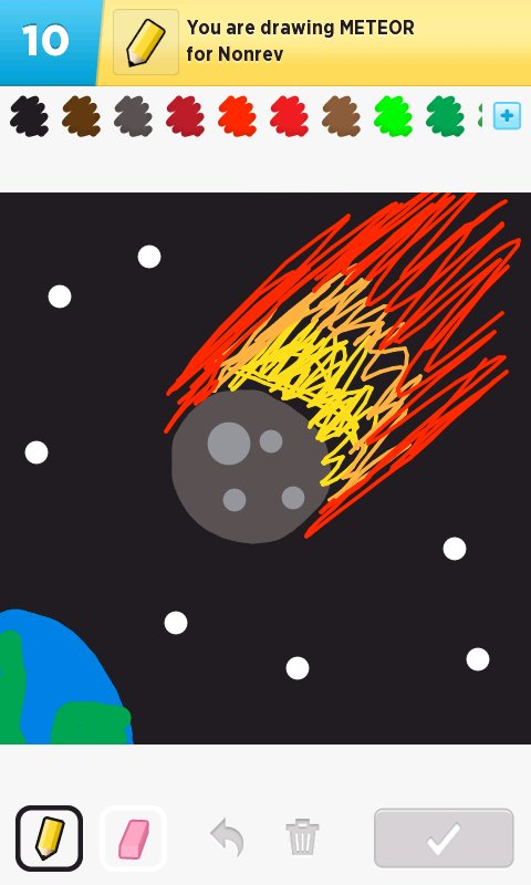 drawn picture of an asteroid - photo #40