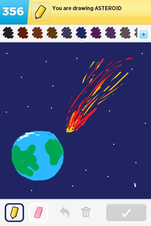drawn picture of an asteroid - photo #47