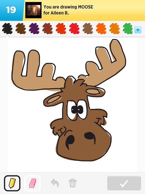 Moose Drawings How To Draw Moose In Draw Something The Best Draw Something Drawings And Draw Something 2 Drawings From Iphone Ipad Ipod And Android