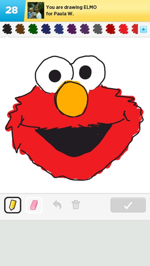 Elmo Drawings How To Draw Elmo In Draw Something The