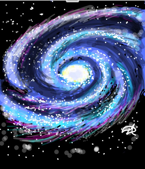 sketch of major components with milky way galaxy - photo #18