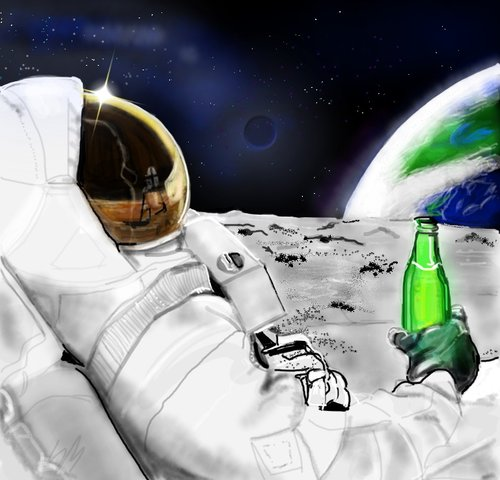 astronaut space drawing - photo #40