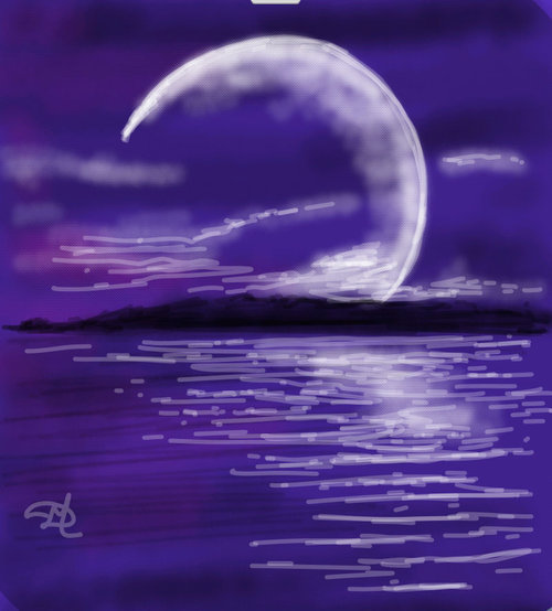 How To Draw Moonlight In Draw