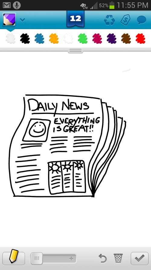 Newspaper Drawings How To Draw Newspaper In Draw Something The Best Draw Something Drawings And Draw Something 2 Drawings From Iphone Ipad Ipod And Android