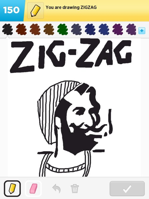 Zigzag Drawings - How to Draw Zigzag in Draw Something - The